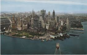 of manhattan color aerial postcard views of manhattan s skyline in the 1960s 70s