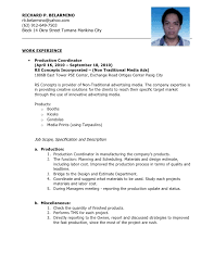 experience resume for production engineer resume for production engineer enom warb co