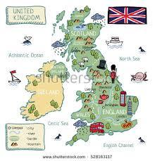 map uk ireland scotland map united kingdom scotland stock vector 528163117