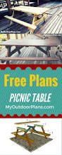 Free Wood Picnic Bench Plans by Best 25 Build A Picnic Table Ideas On Pinterest Diy Picnic