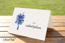 printable folded place cards table name template striking