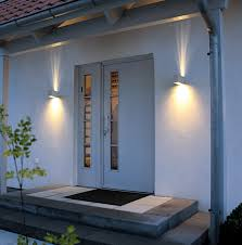 outdoor wall lighting up and interior exterior doors