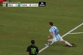 lionel messi rested after playing on worst field ever comes off