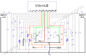 stk4192 stereo power lifier circuit diagram lifier