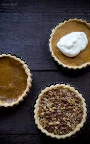 thanksgiving pie pumpkin pecan sweet potato savory simple