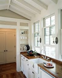 atlanta narrow counter height kitchen traditional with caribbean
