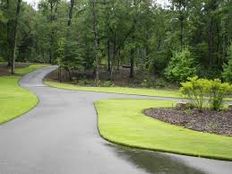 exterior asphalt driveway landscaping ideas with beautiful tree