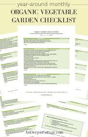 year around monthly organic vegetable garden checklist
