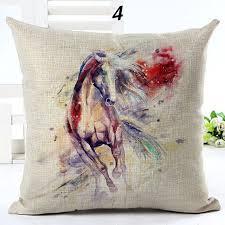 taie d oreiller pour canapé maiyubo coloré conception cheval taie d oreiller pour canapé