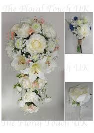 Silk Bridal Bouquets Bridal Shower Bouquets Teardrop Wedding Bouquets The Floral