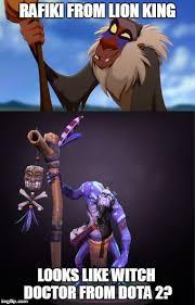 Rafiki Meme - image tagged in lion king dota 2 imgflip