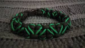 woven weave paracord bracelet images Thin green line paracord heart bracelet code green store jpg