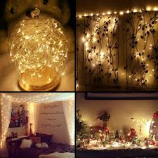 Outdoor Battery String Lights 100 Leds 10m Outdoor Battery Fairy String Lights Warm White For