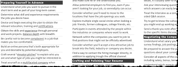 Build An Online Resume by Tips For Getting The Right It Job