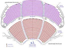 Mgm Grand Floor Plan Las Vegas Cirque Du Soleil Ka Seating Chart