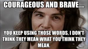 Meme Words - courageous and brave you keep using those words i don t think