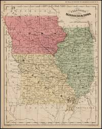 Iowa Illinois Map Illinois Missouri U0026 Iowa Barry Lawrence Ruderman Antique Maps Inc
