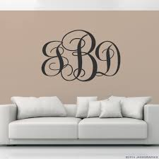 monogram wall decals personalise your rooms and walls vinyl decal for wall monogram decals charcoal vinyl