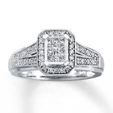 10k wedding ring engagement ring 1 3 ct tw princess cut 10k white gold