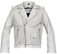 motorcycle over jacket white brando classic motorcycle leather jacket stylees co uk