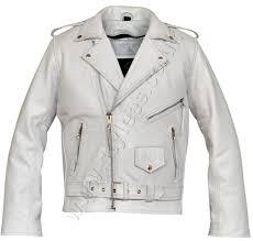 classic motorcycle jacket white brando classic motorcycle leather jacket stylees co uk