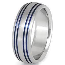 thin blue line wedding band thin blue line titanium rings titanium rings studio