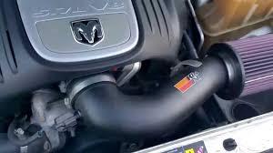 Dodge Challenger Engine Sizes - dodge challenger 5 7 hemi engine sound with k u0026 n aftermarket air