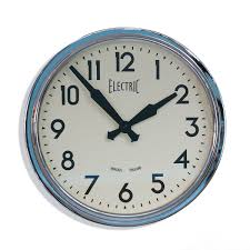 newgate chrome fifties style wall clock vintage style home and