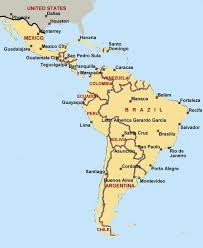 map of mexico south america regional maps