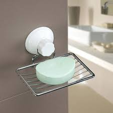 fashion strong suction bathroom shower accessory soap dish holder