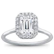 plain band engagement ring plain band emerald halo engagement setting r3014