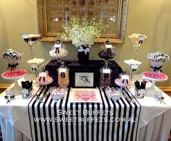 Pink And Black Candy Buffet by Black And White Wedding Candy Lolly Buffet With Pops Of Pink