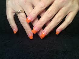 acrylic nails orange tips youtube