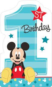 mickey mouse 1st birthday disney mickey mouse 1st birthday invites 8 birthdayexpress