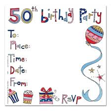 50th birthday party invitation cards party invitations party ark
