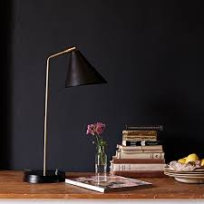 Desk Lights Drax Desk Light In Brass And A Black Hood Desk Lights