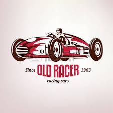 retro race car vintage vector symbol emblem label template