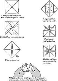 how to paper fortune teller my childhood paper