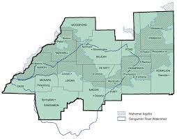 Illinois Counties Map by Mahomet Aquifer Consortium Maps