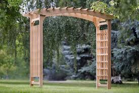 Arbors And Trellises Amazon Com All Things Cedar Garden Wedding Arbor Patio Lawn