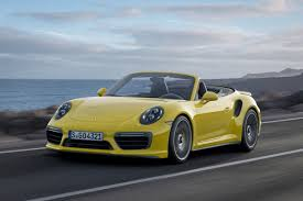 yellow porsche 911 meet the 200 000 2017 porsche 911 turbo s cabriolet airows
