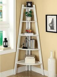 bookcase corner unit oak living room furniture sets corner ladder shelves tikspor