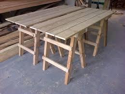 collapsible trestle tables the wooden workshop oakford devon