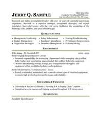 Military Veteran Resume Examples by Military To Civilian Resumes Resume Sample For Military To