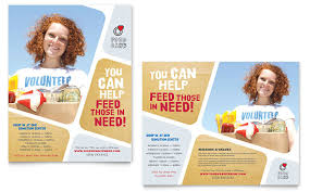 Volunteer Brochure Template by Food Bank Volunteer Poster Template Design