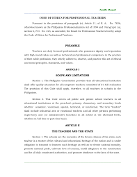 Counseling Code Of Ethics Philippines Code Of Ethics