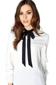 white bow blouse on bow blouse on from uk