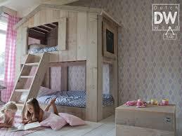 chambre lit superposé lit cabane superposé enfant dutchwood