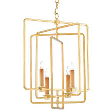 Square Chandelier Currey And Company Metro Square Chandelier Gold Candelabra Inc