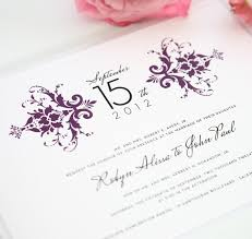 damask wedding invitations purple damask wedding invitations wedding invitations